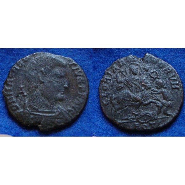 Magnentius -  AE2 Keizer op Paard AQUILEIA! (D1870)
