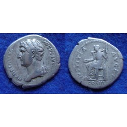 Hadrian  - Justitia left bust not in RIC (F1910)