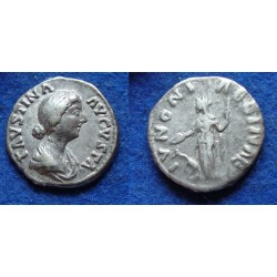 Faustina jr - denarius JUNO  (JUN1807)