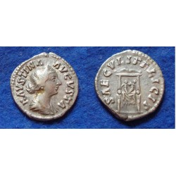 Faustina jr - denarius Commodus and Annius Verus! (Au1801)